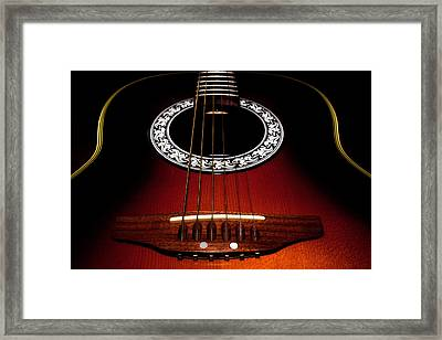 Guitar Abstract Framed Print