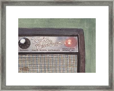 Guitar Amp Sketch Framed Print
