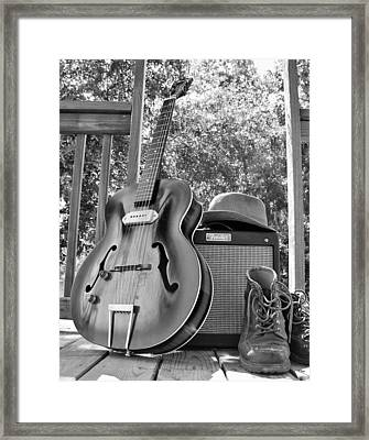 guitar and Boots Framed Print by Thomas Leon
