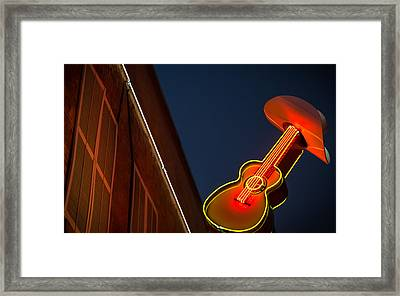 Guitar And Hat Framed Print