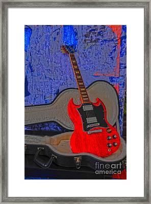 Guitar Art Framed Print by Randi Grace Nilsberg