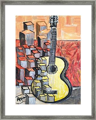 Guitar Framed Print by Asuncion Purnell