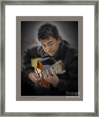 Guitar Boy Framed Print by Pedro L Gili
