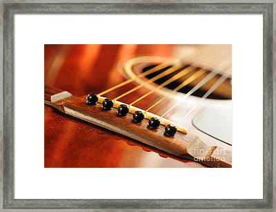 Guitar Bridge Framed Print by Elena Elisseeva