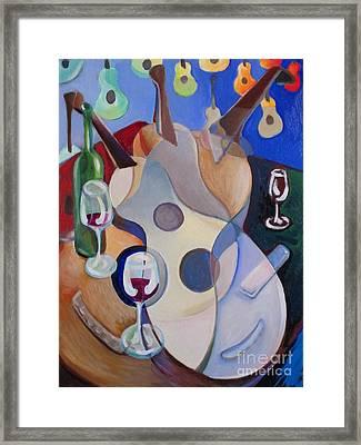 Guitar Celebration Framed Print by Frederick  Luff