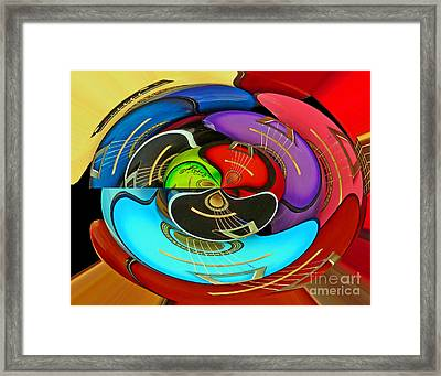 Framed Print featuring the photograph Guitar Circle by Cheryl Del Toro