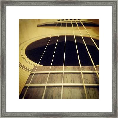Guitar Closeup Framed Print
