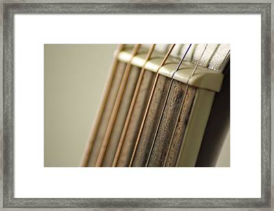 Guitar Framed Print by Daniel Precht