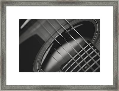 Framed Print featuring the photograph Guitar Detail by Michael Donahue