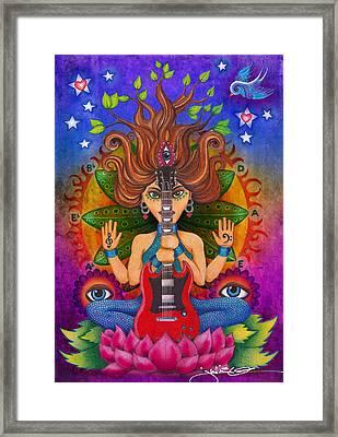 Guitar Goddess Framed Print