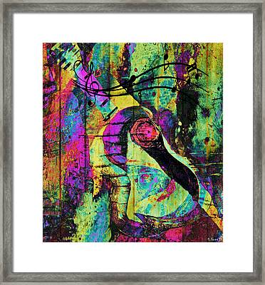 Guitar Improvisation Framed Print by Catherine Harms