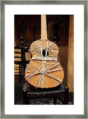 Guitar In A Museum, Museo Del Baile Framed Print
