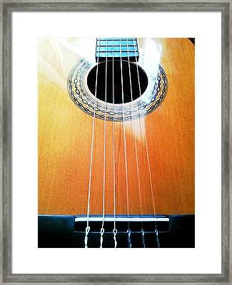 Guitar In The Light Framed Print by Isabella F Abbie Shores FRSA