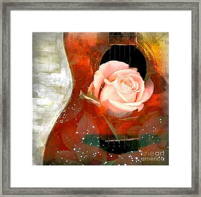 Guitar Love Framed Print