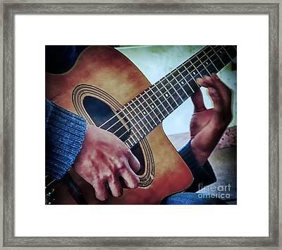 Guitar Man Framed Print by Barry Weiss