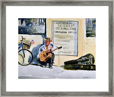 Da192 Guitar Man By Daniel Adams Framed Print by Daniel  Adams