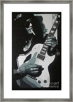 Guitar Man Framed Print by ID Goodall