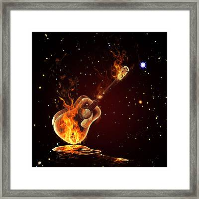 Guitar  Framed Print by Mark Ashkenazi
