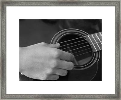 Guitar Framed Print by Mark C Ettinger