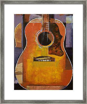 Guitar Framed Print by Michael Creese