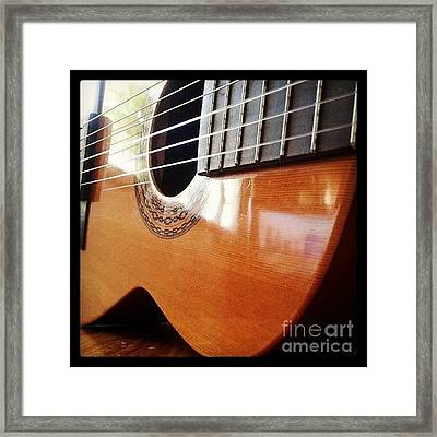 #guitar #music #musicalinstrument Framed Print