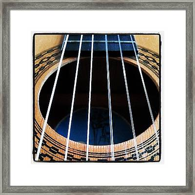#guitar #music #musician Framed Print