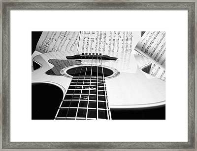 Guitar Music Framed Print by Susan Stone