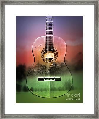 Guitar Nature  Framed Print by Mark Ashkenazi
