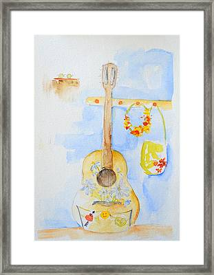 Guitar Of A Flower Girl Framed Print