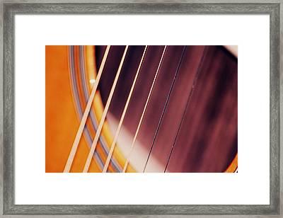 Guitar One Framed Print by A K Dayton