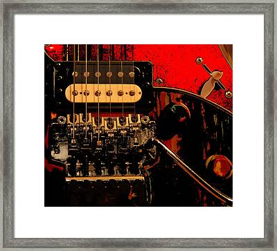 Framed Print featuring the photograph Guitar Pickup by John Stuart Webbstock