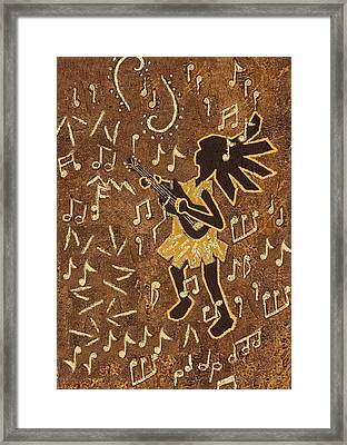 Guitar Player Framed Print by Katherine Young-Beck