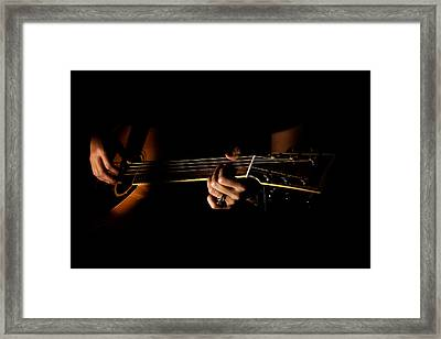Guitar Player Framed Print