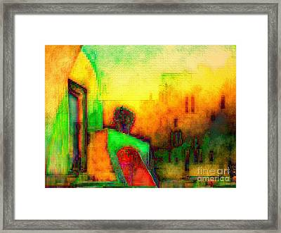 Framed Print featuring the digital art Guitar Player by Mojo Mendiola