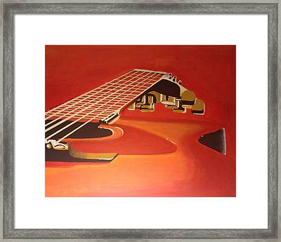 Guitar Scape Framed Print by Dana Thomas