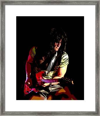 Guitar Shred Framed Print by James Hammen