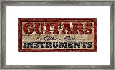 Guitar Sign Framed Print by WB Johnston