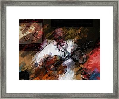 Guitar Singer Framed Print