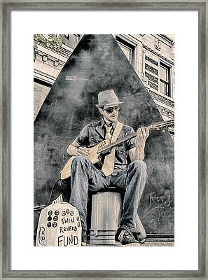 Guitar Solo Framed Print by John Haldane
