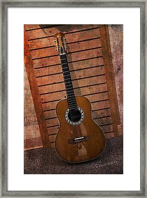 Guitar Solo Framed Print by Terri Harper