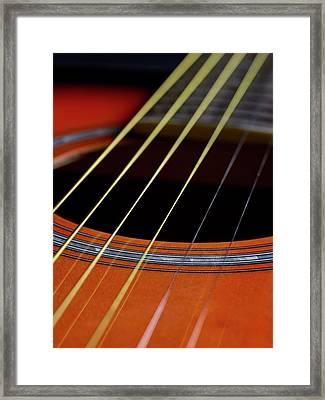 Guitar Strings Framed Print