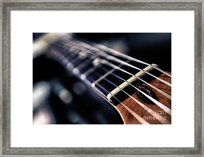 Guitar Strings Framed Print by Stelios Kleanthous