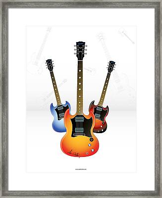 Guitar Style Framed Print