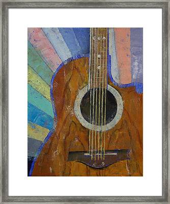 Guitar Sunshine Framed Print by Michael Creese