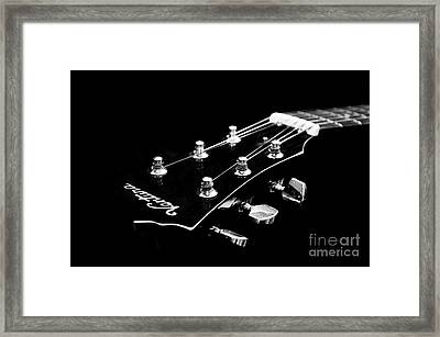 Guitar Ventura Head Stock 1 Framed Print by Andee Design