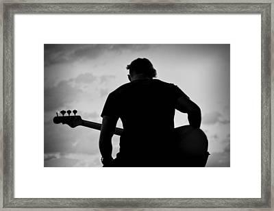 Guitarist - Funktography By Nerisha Ray Singh Framed Print by Nerisha Ray Singh