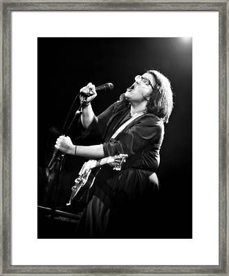 Guitarist Brittany Howard In Black And White - Alabama Shakes Live In Concert Framed Print