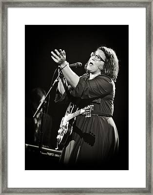Guitarist Brittany Howard In Black And White 2 - Alabama Shakes Live In Concert Framed Print