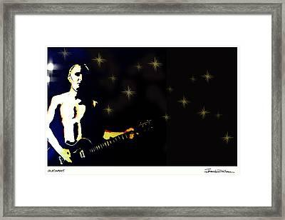 Guitarist Framed Print by Jerrett Dornbusch
