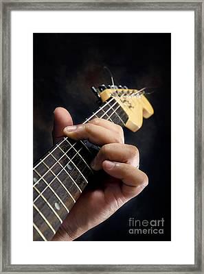 Guitarist Playing Guitar Framed Print